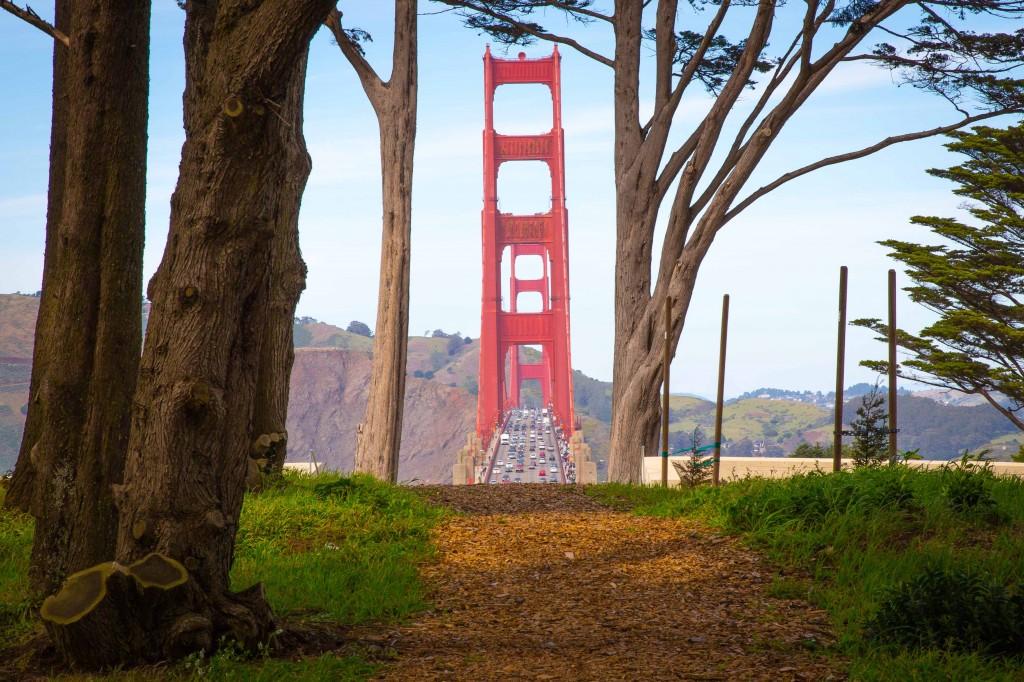Golden Gate Bridge view from San Francisco