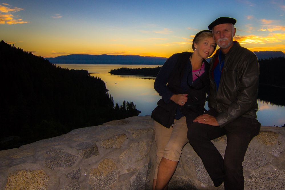 Up before dawn to get to Emerald Bay and watch the sunrise.