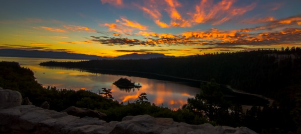 Sunrise photo quickie at Lake Tahoe at Emerald Bay, California Travel Videos