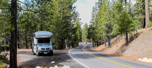 cTv RVLife SNOW TIME, Manzanita Lake at Lassen National Park