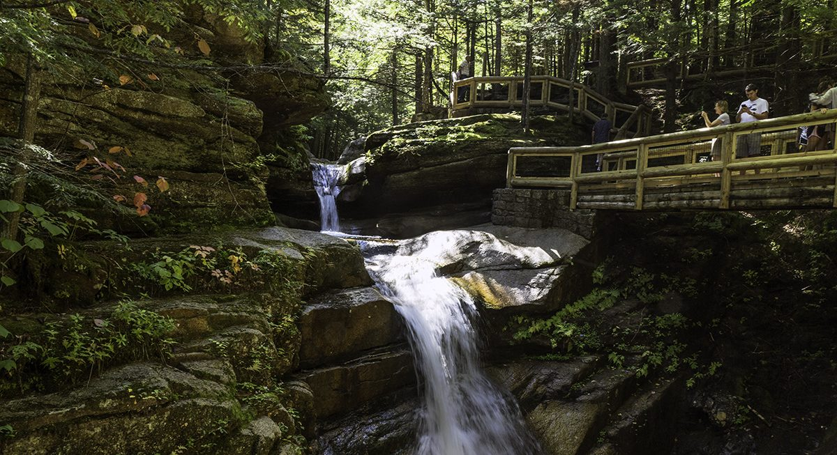 Sabbaday Falls + Lebanon, NH, Rails to Trails Bike Ride